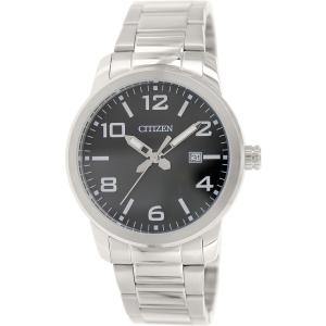 Citizen Men's BI1020-57E Silver Stainless-Steel Quartz Watch