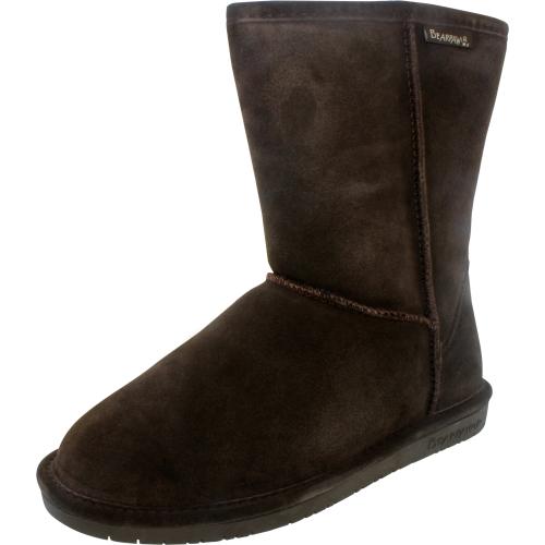 Bearpaw Women's Emma Short Chocolate Mid-Calf Suede Boot - 6