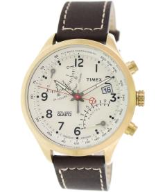 Timex Men's Intelligent Quartz T2P510 Brown Leather Analog Quartz Watch