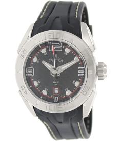 Festina Men's F16505/3 Black Rubber Analog Quartz Watch
