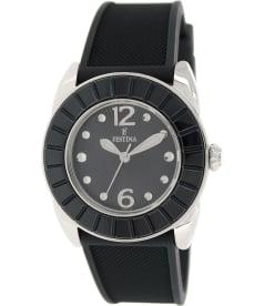 Festina Women's F16540/8 Black Rubber Analog Quartz Watch