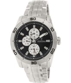 Festina Men's F16606/3 Silver Stainless-Steel Analog Quartz Watch