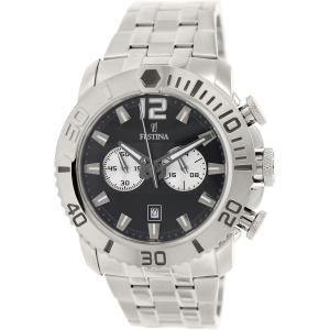 Festina Men's F16613/3 Silver Stainless-Steel Analog Quartz Watch