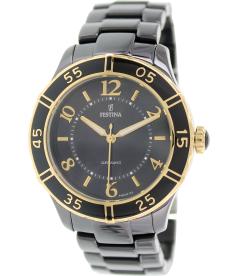 Festina Women's F16633/2 Black Ceramic Analog Quartz Watch