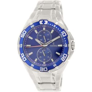 Festina Men's F16663/3 Silver Stainless-Steel Analog Quartz Watch
