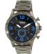 Fossil Men's Nate JR1478 Gunmetal Stainless-Steel Quartz Watch - Main Image Swatch