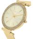 Michael Kors Women's Darci MK3368 Gold Stainless-Steel Quartz Watch - Side Image Swatch