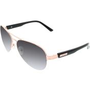 Guess Men's  GU6799-GLDBK-35 Gold Aviator Sunglasses