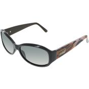 Guess Women's Polarized  GUP2016-BLK-3 Black Rectangle Sunglasses