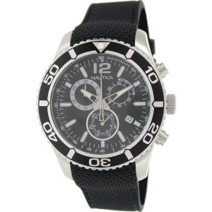 Nautica Men's Nst 09 N15102G Black Rubber Swiss Chronograph Watch