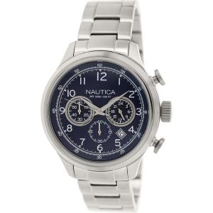 Nautica Men's Nct 16 N19630G Silver Stainless-Steel Quartz Watch