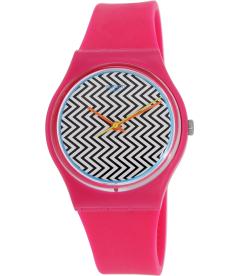 Swatch Women's Originals GP142 Pink Silicone Swiss Quartz Watch