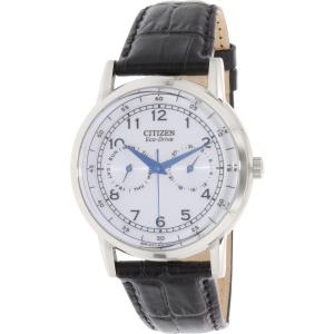 Citizen Men's Eco-Drive AO9000-06B Black Leather Quartz Watch