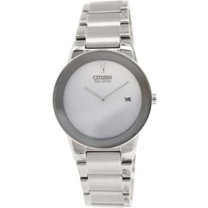 Citizen Men's Eco-Drive AU1060-51A Silver Stainless-Steel Eco-Drive Watch