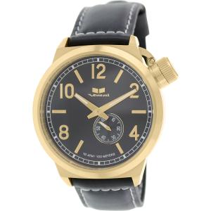 Vestal Men's Canteen CTN3L13 Black Leather Quartz Watch