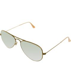 Ray-Ban Men's Mirrored Aviator RB3025-167/4K-55 Gold Aviator Sunglasses