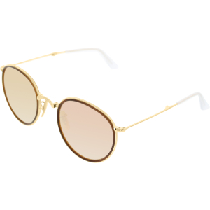 Ray-Ban Men's Mirrored  RB3517-001/Z2-51 Gold Round Sunglasses