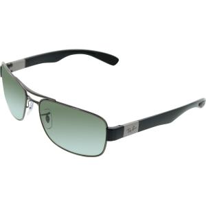 Ray-Ban Men's Polarized  RB3522-004/9A-61 Gunmetal Rectangle Sunglasses