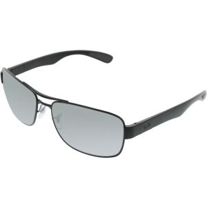 Ray-Ban Men's Polarized  RB3522-006/82-64 Black Rectangle Sunglasses