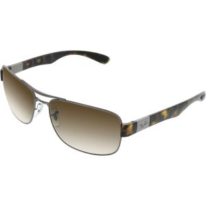Ray-Ban Men's Gradient  RB3522-029/13-64 Gunmetal Rectangle Sunglasses