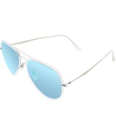 Ray-Ban Men's Mirrored Aviator RB4211-646/3R-56 Clear Aviator Sunglasses