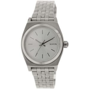 Nixon Women's Time Teller A3991920 Silver Stainless-Steel Quartz Watch