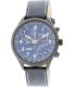 Timex Men's Intelligent Quartz T2P380 Blue Leather Quartz Watch - Main Image Swatch