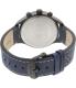 Timex Men's Intelligent Quartz T2P380 Blue Leather Quartz Watch - Back Image Swatch