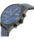 Timex Men's Intelligent Quartz T2P380 Blue Leather Quartz Watch - Side Image Swatch