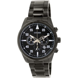 Citizen Men's AN8095-52E Black Stainless-Steel Analog Quartz Watch