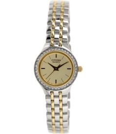 Citizen Women's EJ6044-51P Silver Stainless-Steel Quartz Watch