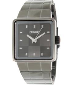 Nixon Men's Quatro A013131 Gunmetal Stainless-Steel Quartz Watch