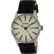 Nixon Men's Sentry A1051540 Blue Leather Quartz Watch