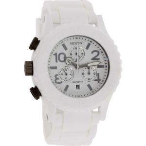 Nixon Men's 42-20 A309100 White Silicone Quartz Watch