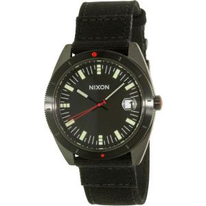 Nixon Men's Rover A355001 Black Leather Quartz Watch