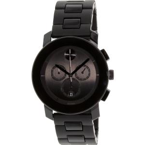 Movado Men's Bold 3600048 Black Stainless-Steel Swiss Quartz Watch