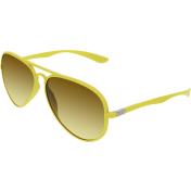 Ray-Ban Men's Gradient Aviator RB4180-60852L-58 Yellow Aviator Sunglasses