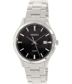 Seiko Men's SUR051 Silver Stainless-Steel Quartz Watch