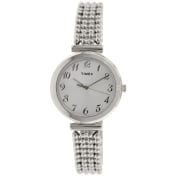 Timex Women's Elevated Classics T2P204 Silver Stainless-Steel Analog Quartz Watch