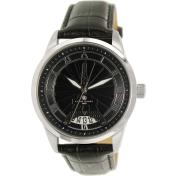 Klaus Kobec Women's Eiffel KK-20004-01 Black Leather Analog Quartz Watch