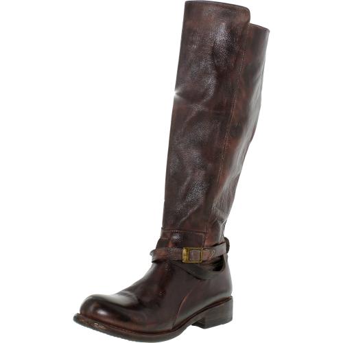 Bed Stu Women's Bristol Teak Rustic Knee-High Leather Boot -