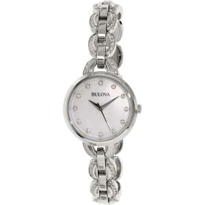 Bulova Women's Crystal 96L203 Silver Stainless-Steel Quartz Watch