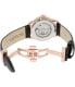 Bulova Men's 97A116 Black Leather Automatic Watch - Back Image Swatch