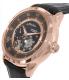 Bulova Men's 97A116 Black Leather Automatic Watch - Side Image Swatch