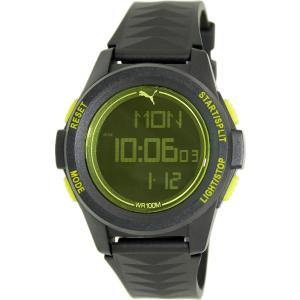 Puma Men's Vertical PU911161001 Black Resin Quartz Watch