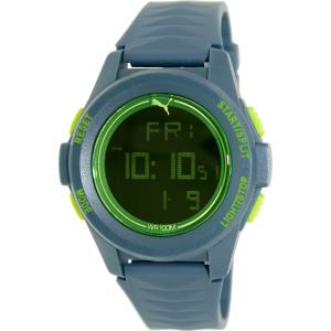 Puma Men's Vertical PU911161002 Teal Plastic Quartz Watch