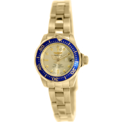 Invicta Women's Pro Diver 14126 Gold Stainless-Steel Quartz Watch