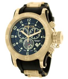 Invicta Men's Russian Diver 15562 Black Rubber Swiss Chronograph Watch