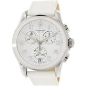 Victorinox Swiss Army Women's Classic 241500 White Leather Swiss Chronograph Watch