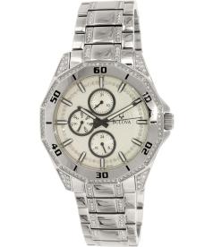 Bulova Men's Crystal 96C110 Silver Stainless-Steel Quartz Watch